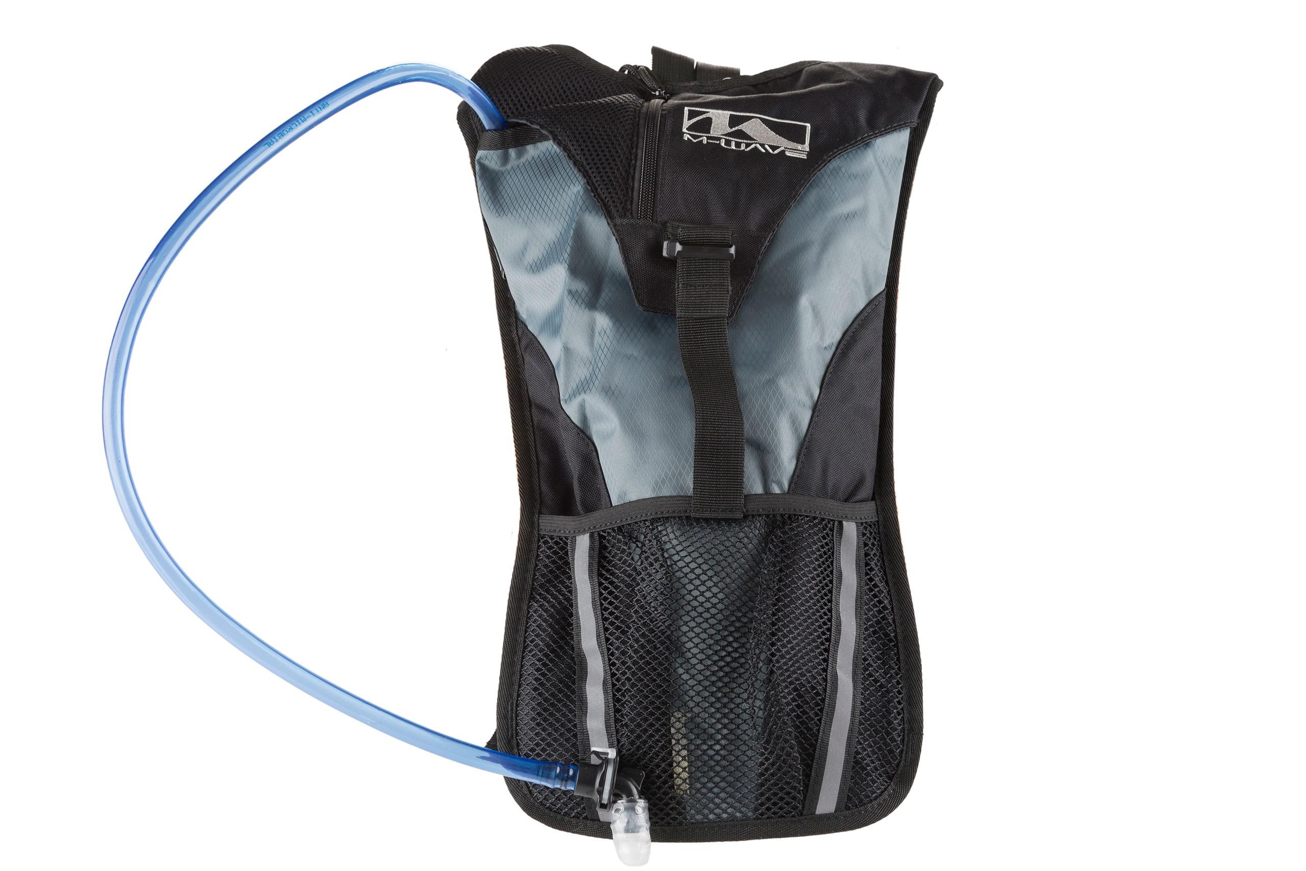 Plecak rowerowy M-Wave + bukłak 2L czarno-szary