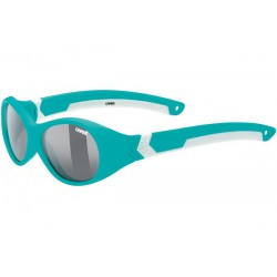 Okulary UVEX SPORTSTYLE 510 turq.whi.mat/smoke turkusowo białe