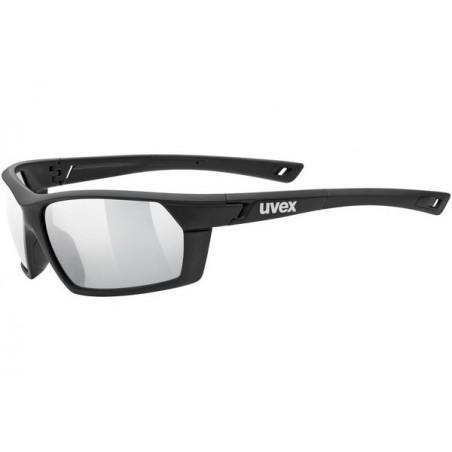Okulary UVEX SPORTSTYLE 225 black mat/ltl.silver czarne