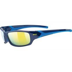 Okulary UVEX SPORTSTYLE 211 blue/ mirror yellow niebieskie