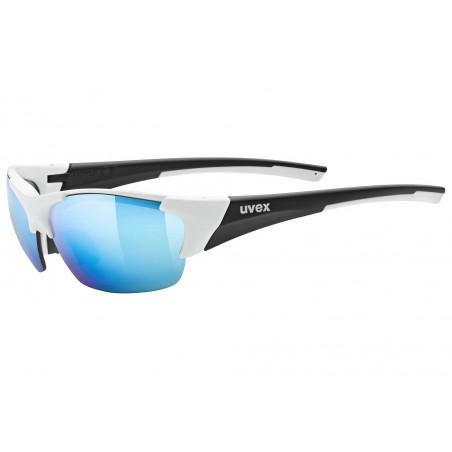 Okulary UVEX BLAZE III white black mat/mir.blue