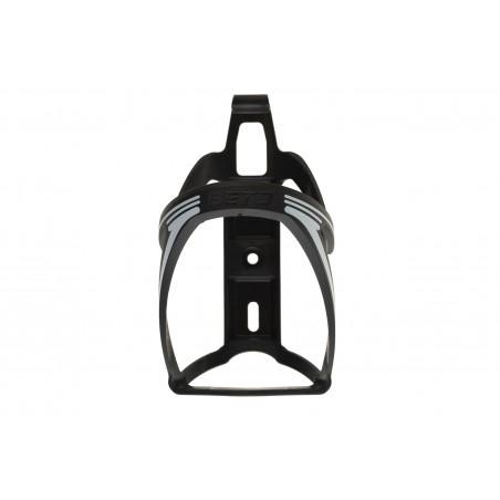 Koszyk bidonu plastik BETO BC-110 mocowany do ramy czarno-biały