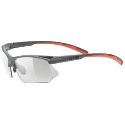 Okulary UVEX SPORTSTYLE 802 V grey mat/smoke szary mat