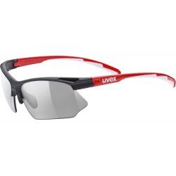 Okulary UVEX SPORTSTYLE 802 V blk red whi/smoke