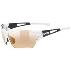 Okulary UVEX SPORTSTYLE 803 R CV V wh.bl/l.red białe