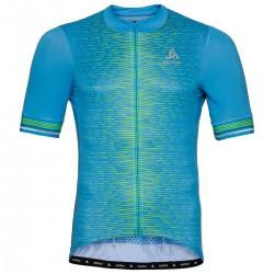 Koszulka ODLO Stand-up ZEROWEIGHT full zip kr.r błękitna L