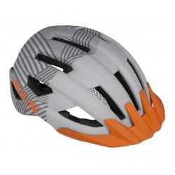 Kask KELLYS DAZE MTB z daszkiem L/XL 58-61cm szaro-pomarańczowy /grey/