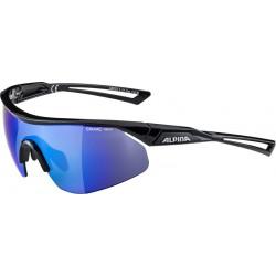 Okulary ALPINA NYLOS SHIELD kolor BLACK szkło BLUE MIRROR Cat.3