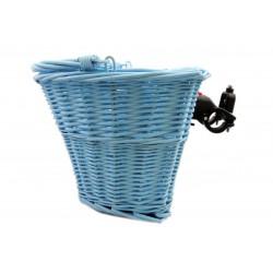 Koszyk na kierownicę wiklinowy na KLIP, błękitny