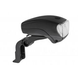 Lampa przednia /bateryjna/ XC-761 uchwyt na widelec 5 LED, czarna
