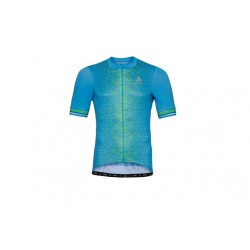 Koszulka ODLO Stand-up ZEROWEIGHT full zip kr.r błękitna XL