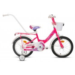 Rower 16 MONTERIA Limber Girl neon różowy