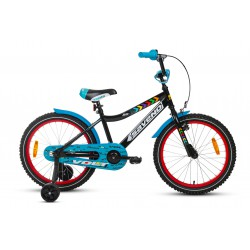 Rower 20 SAVENO VOLT czarno-czerwony 2021