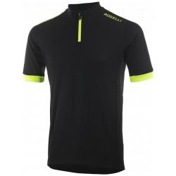 Koszulka ROGELLI PERUGIA 2.0 kr.r czarno-fluo XXL