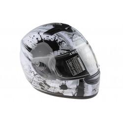Kask moto. AWINA TN-0700B-B3 integralny biało-szary XL