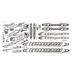 Naklejka KR4 - MERIDA srebrno-grafitowa