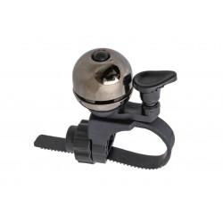 Dzwonek alu/plast MINI DING D-30mm regulowany 22-32mm, platyna