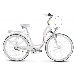 Rower 28 MEXLLER VILLAGE D CTB TEL. ALUM. Nexus- 3 bieg. biały błotniki białe