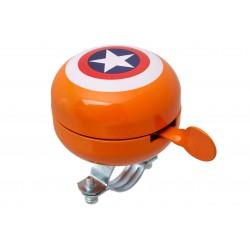 Dzwonek alu/plast 60mm AMERICA pomarańczowy BB3231
