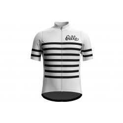 Koszulka ODLO Stand-up ESSENTIAL full zip kr.r męska czarno-biała XL