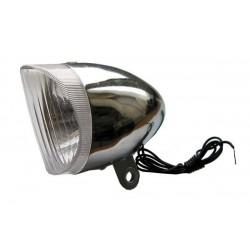 Lampa przednia /dynamo/ RETRO stalowa