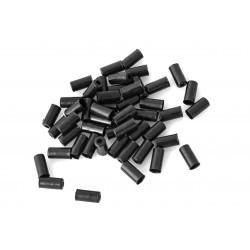 Końcówka pancerza hamulca 5mm mosiężna JAGWIRE czarna 50szt /bez logo/