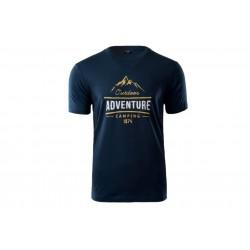 Koszulka HI-TEC LORE męska T-shirt Adventure L granat