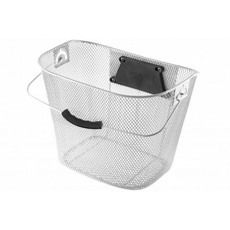 Koszyk na kierownicę zapin.+klip HB-026 siatka biały