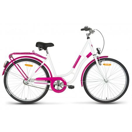 Rower turystyczny 26 KANDS LAGUNA RETRO biało-różowy 17r.