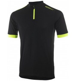 Koszulka ROGELLI PERUGIA 2.0 kr.r czarno-fluo XL