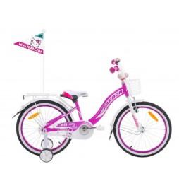 Rower 20 KARBON KITTY fioletowo-biały
