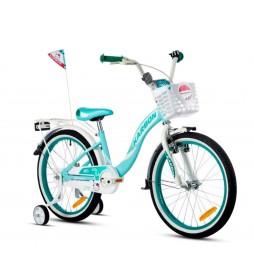 Rower 20 KARBON KITTY turkusowo-biały