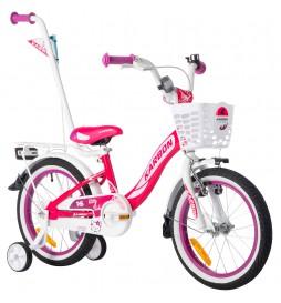 Rower 16 KARBON KITTY różowo-biały