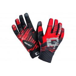 Rękawiczki IQ FORWARD długie palce czarno-czerwone L