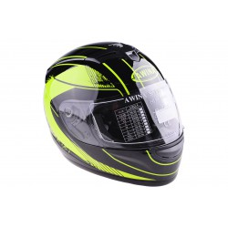 Kask moto. AWINA TN-0700B-A1 integralny czarno-zielony XL