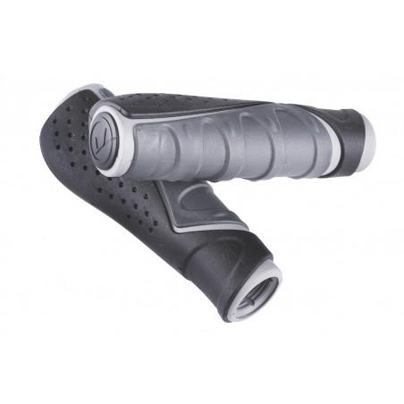 Chwyty ACCENT Comfort 3D 130mm grafitowo-czarno-szare
