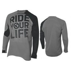 Koszulka KELLYS RIDE YOUR LIFE S długi rękaw grey 2017