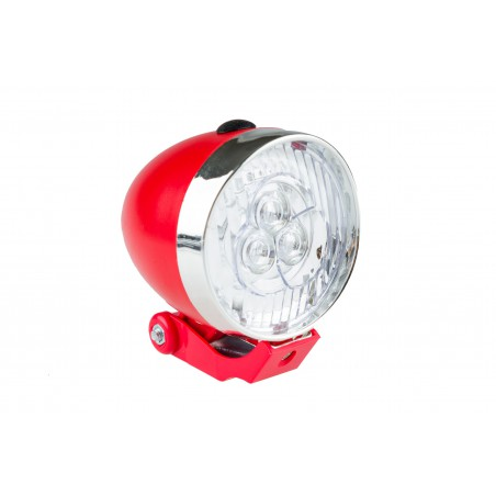 Lampa przednia /bateryjna/ RETRO 3 LED JY-592 czerw.