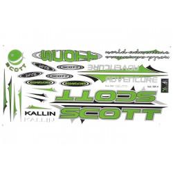 Naklejka KR4 - SCOTT zielona
