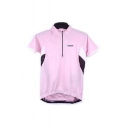 Koszulka SHIMANO damska krótki rekaw różowo-biało-czarna M