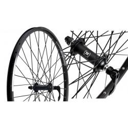 Koło rowerowe 28 przednie ALEXRIMS DH19 Novatec 751SB aluminiowe stożek czarne zacisk łożyska maszynowe