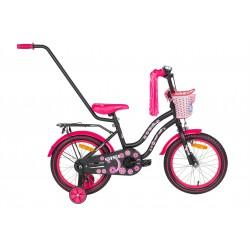 Rower 16 MEXLLER SISI czarno-różowy mat.
