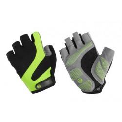 Rękawiczki rowerowe ACCENT Apex czarno-zielone L