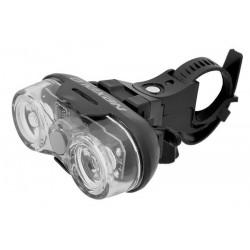 Lampa przednia /bateryjna/ 3-fun. 2-diod.LED, wodoodporna 0,5Wat  z bateriami