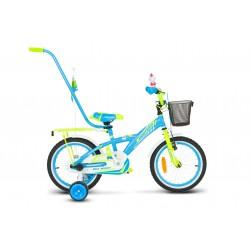Rower dziecęcy 16 Monteria Girl stalowy niebiesko-zielony