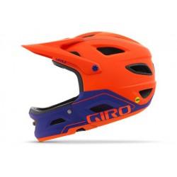 Kask rowerowy GIRO Switchblade MIPS Matte Vermillion Purple L pomarańczowy neon