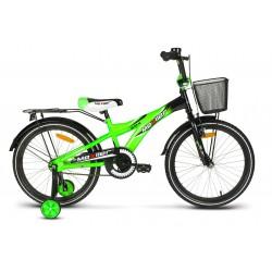 Rower dziecięcy 20 MEXLLER BMX seledynowo-czarny połysk + koszyk 17