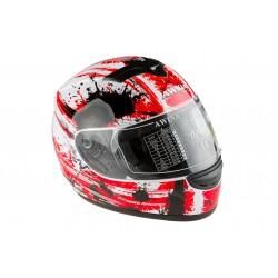 Kask motocyklowy AWINA TN0700B-B2 biało-czerwony XS