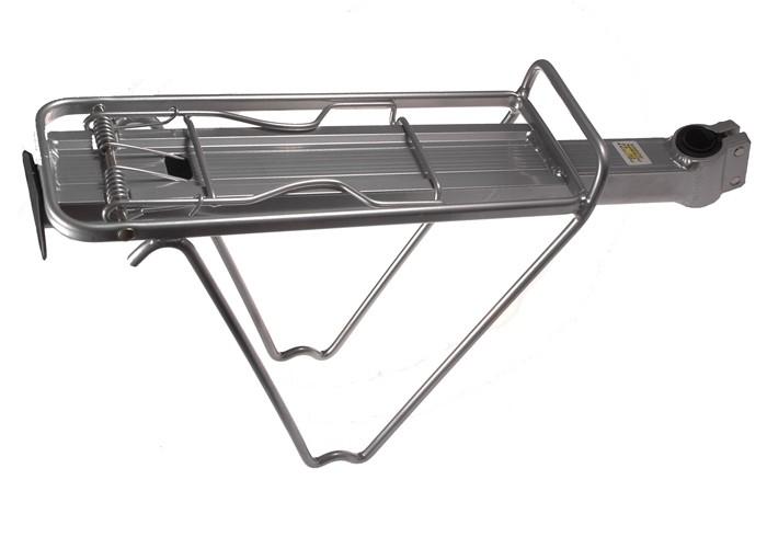 Bagażnik rowerowy do sztycy aluminiowy srebrny