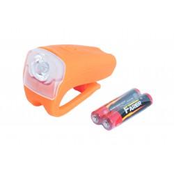 Lampa rowerowa przednia ROMET JY-378 bateryjna 1-LED 3W pomarańczowa